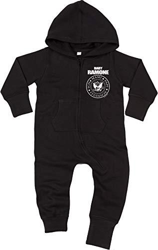 Racker-n-Roll Racker-n-Roll Baby Ramone Baby All-in-one Sweatsuit Black
