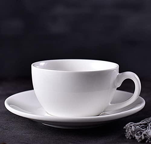 JJTY Pure White Creative Simple Taza de café y platillo Juego Taza de café para el hogar B(200ml)