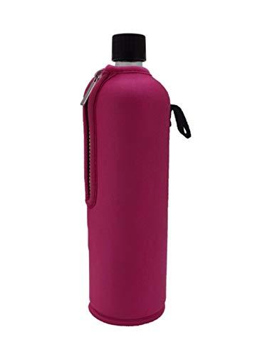 Dora´s Glasflasche mit Neoprenüberzug 700ml (pink)