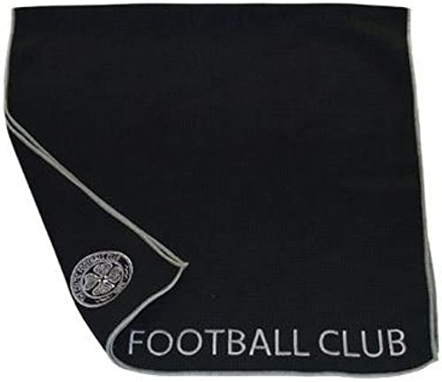 Celtic F.C. Aqualock Caddy Towel- aqualock caddy towel- microfibre towel- embroiderouge crest- approx 103cm x 56cm- on a header voitured- official licensed product