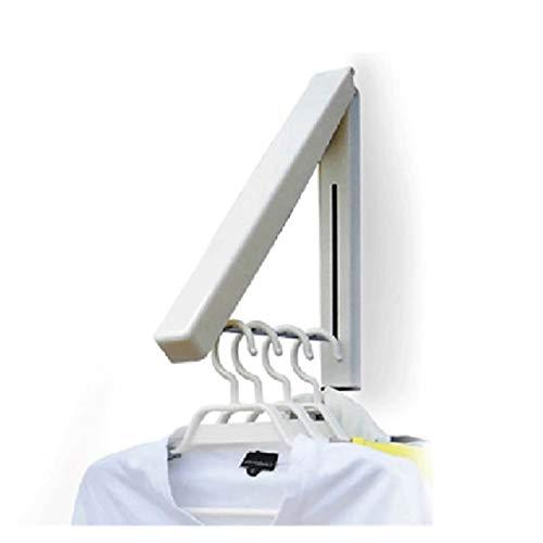 WAYYQX tendedero Ropa Estante Plegable Secado Montaje Pared Plegado Retráctil para Percha Impermeables para Interiores Ropa Montaje Toalla Ropa Organización