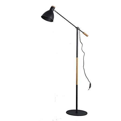 Floor Lamp Nordic Bedroom Floor Lamp Adjustable Dining Room Sofa Standing Lamp Study Room LED Standing Lamp Industrial Style Decorative Lighting,White
