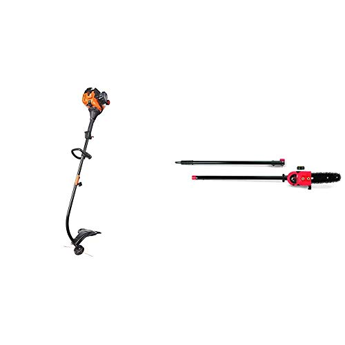 Affordable Remington RM2520 Wrangler Curved Shaft Gas String Trimmer and Pole Saw Attachment