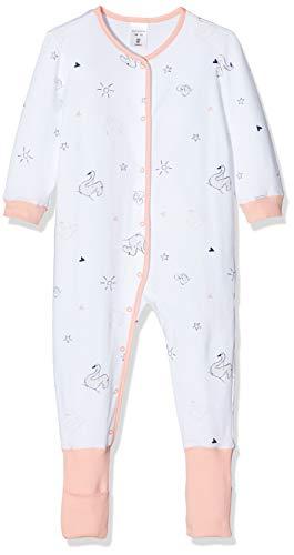 Schiesser Baby-Mädchen Anzug Vario Fuß Zweiteiliger Schlafanzug, Weiß (Weiss 100), 56 (Herstellergröße: 056)