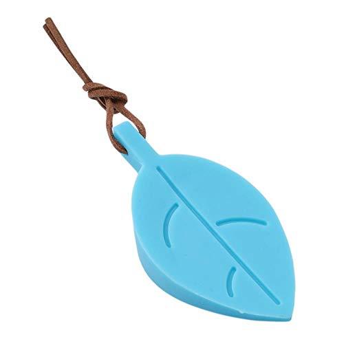 1 Pc Silicone Baby Safety Door Stopper Forme de la feuille Stéréo Suspendre Pochette de porte résistant à la main Baby Safe Products LA992659, bleu