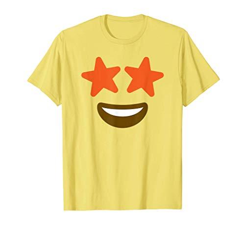 Ojos de estrella Emoji Disfraz de Halloween Disfraz de grupo Camiseta