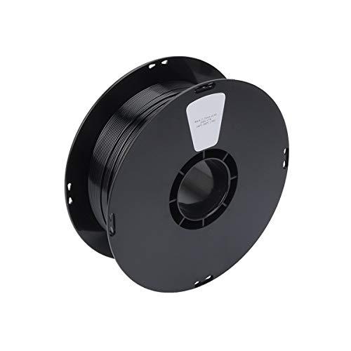 Materiales de impresión de filamentos 1.75mm 1Kg / 2.2 libras Color Negro 1.75 PETG filamento Vs Abs/Pla