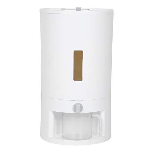 Fourket Contenedor de Almacenamiento de Arroz Cubo de Arroz Medido Sellado a Prueba de Insectos Humedad Adecuado para Arroz en La Cocina Almacenamiento de Granos ()