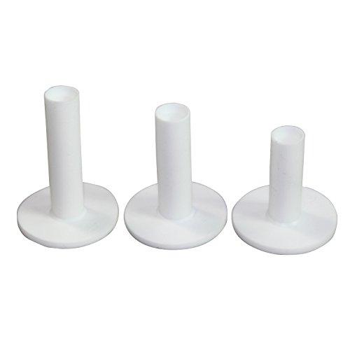 Weiße Farbe mehrweg - Golf - Abschlag, 3 Stück Verschiedene Größen verpackt. 75mm, 65mm, 54mm. White Color Golf Rubber Tee, 3 Pieces Different Sizes Packed. 75mm,65mm,54mm.