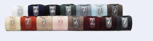 Eskadron Fleece Bandagen, Arbeitsbandagen 4er Set, Fleecebandagen Größe Warmblut, Farbe Dark Brown