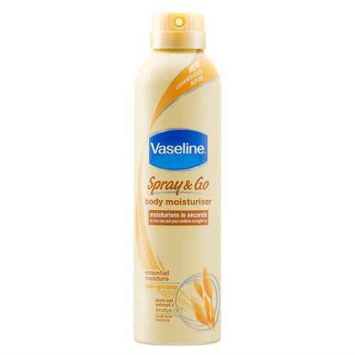 Vaselina Spray & Go crema hidratante de cuerpo de la humedad esencial 190ml funda de 6