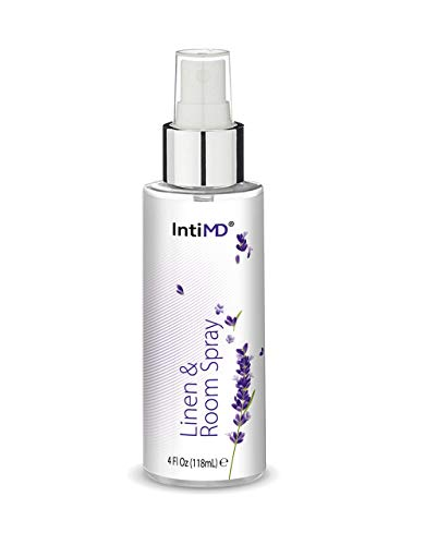 IntiMD Linen & Room Spray, Calming & Relaxing Lavender Scent for any Fabric, Room and Space, Alcohol Free, 4 oz, Made in USA
