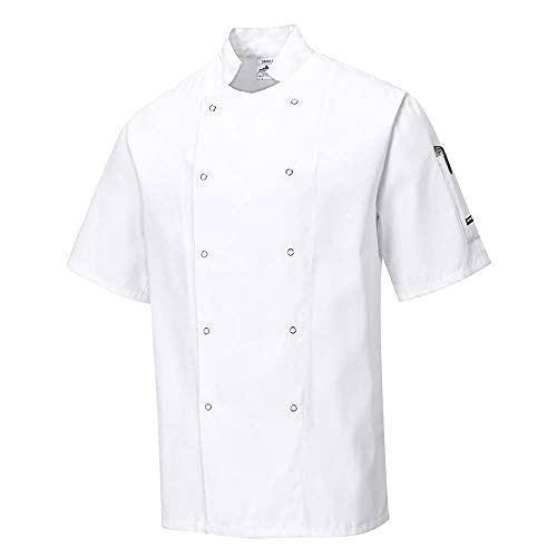 Portwest Veste de cuisine Cumbria, Couleur: Blanche, Taille: L, C733WHRL