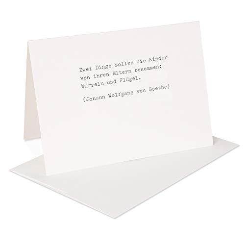 Handgemachte Grußkarte DIN A6 mit Umschlag von type. Manufaktur –