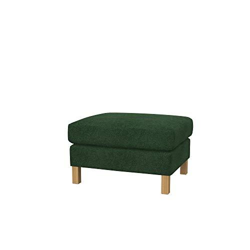 Soferia Ersatzbezug fur IKEA KARLSTAD Hocker, Stoff Strong Green, Grün