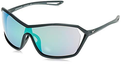 Nike EV1037-303 Helix Elite R Sunglasses (Frame Grey with ML Deep Green Lens), Seaweed