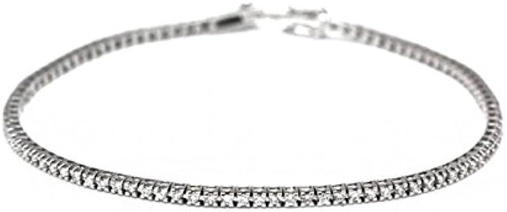 Yukiko bracciale tennis per donna in oro bianco 18kt e diamanti kt. 1,50 BRD863Y-1V9G7
