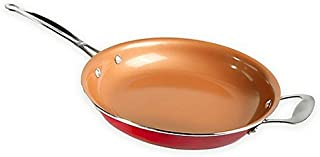 12 Inch Red Copper Fry Pan Deluxe
