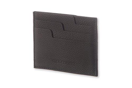 Moleskine Lineage - Tarjetero de cuero, negro
