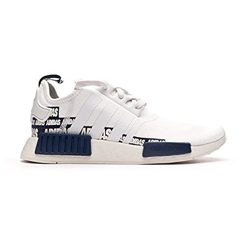 adidas NMD R1, Zapatilla, Crystal White-Crystal White-Collegiate Navy, Talla 7 UK (40 2/3 EU)