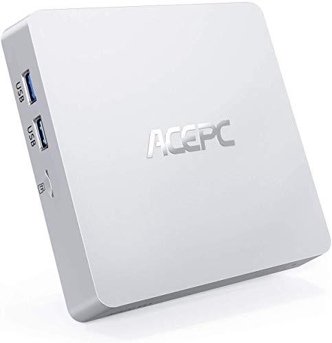 ACEPC T11 Mini PC, 8GB DDR3, 128GB eMMC, Windows 10 Pro Mini Desktop...