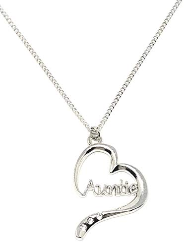 Auntie Heart Shape Charm Pendant/Necklace Gift Boxed By Sterling Effectz