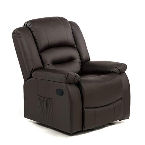 ECODE Sillón de masaje relax, Maximum, programas Auto, Calor Lumbar Polipiel de máxima calidad