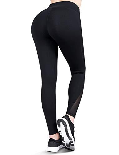 Pantalones De Yoga De Talle Alto Tipo Malla Con Bolsillos Y Contr