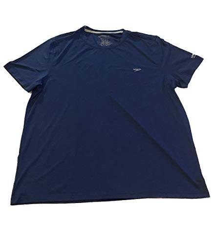 Speedo Men's UPF 50+ Quick Dry 4-Way Stretch Short Sleeve Swim Tee (Peacoat, Medium)