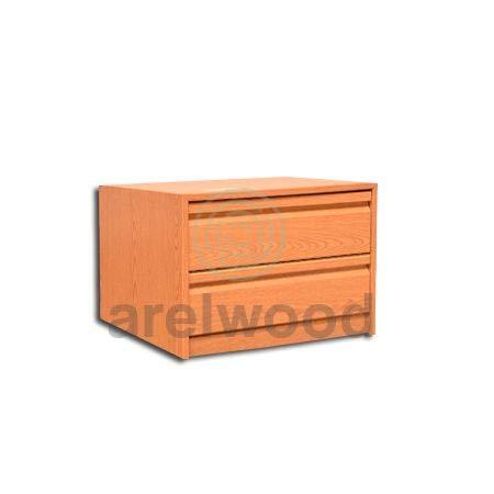 arelwood Cajonera para Armario Frente Postformado Roble Espejo Montada 50X40-2 Cajones. Alto 40,8 cm.