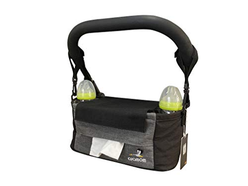 Baby Stroller Organizer with Cup Holders- Baby stroller storage bag that can be used as a shoulder bag-Universal Stroller Organizer