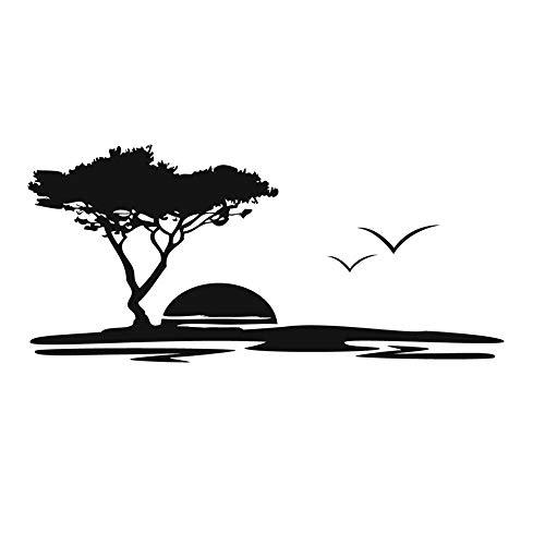 Lamubh Vinilo árbol Grande y Gaviota Pegatinas de Pared Naturales Paisaje de...