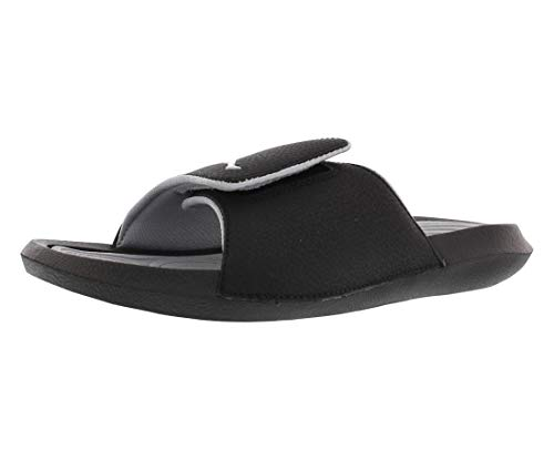 Nike Men's Jordan Hydro 6 Slides Sandals, Black White Wolf Grey, 12