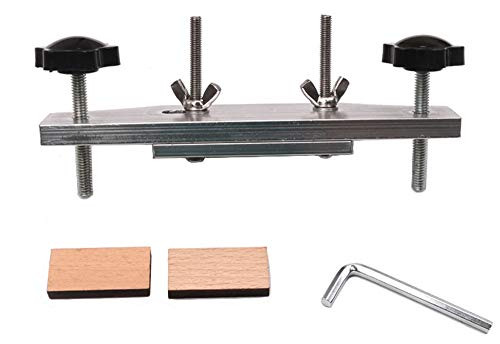 Jiayouy Stainless Steel Guitar Bridge Clamp Set with Cork Gasket for Classical/Acoustic Guitar Accessory Luthier Tools