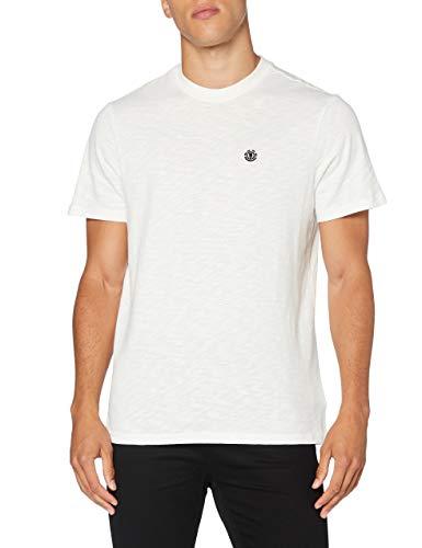 Element Crail - Camiseta de Manga Corta para Hombre Camiseta de Manga Corta, Hombre, Off White, XL