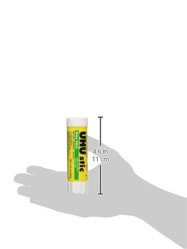 UHU 99655 Glue Stick, 1.41 oz, Pack of 6, Clear/ White |