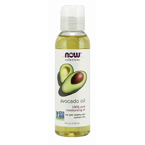 NOW Solutions Avocado Oil 100% Pure Moisturizing Oil Nutrient Rich and Hydrating 4 FL Oz Pack of 1