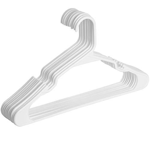 Mr. Pen- Plastic Hangers, 10 Pack, Hangers, Clothes Hangers, White Plastic Hangers, Clothing Hangers, Clothes Hangers Plastic, Hangers for Closet,...