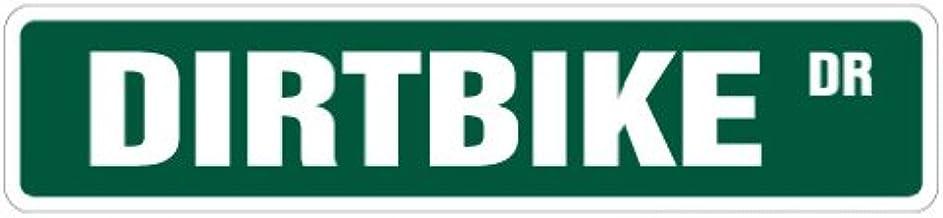 """Dirtbike Street Sign Motocross Racer Racing Signs BMX   Indoor/Outdoor   18"""" Wide"""