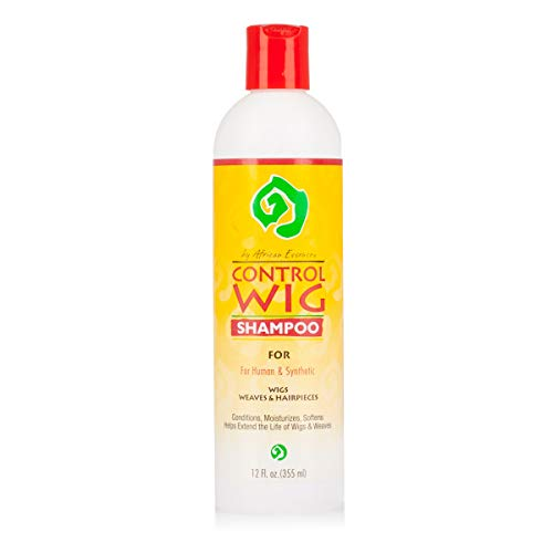 African Essence Control Wig Shampoo for Human and Synthetic Hair (12 Oz) by AFRO CONTROL