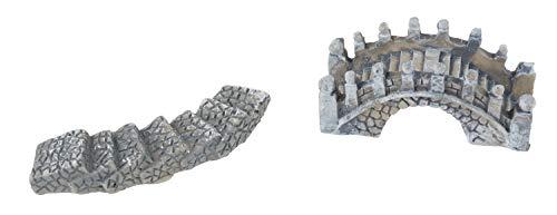 VBS Deko Brücke und Weg, 2er-Set Miniaturwelt Modellbau Krippe Puppenwelt basteln