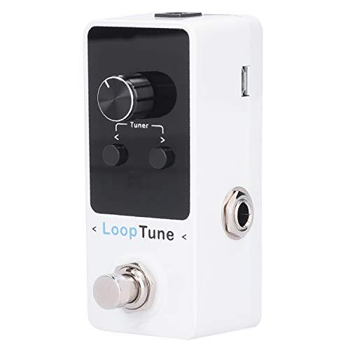 Pedal de efectos de guitarra, frecuencia de muestreo de 48K / 24 bits Pedal de efectos de tono LOOP con pantalla LED a color