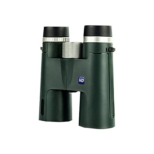 Tree-es-Life Binoculares 12x42 para Adultos Binoculares con Lente BAK4 Luz débil Binoculares de teléfono de visión Nocturna para Viajes Deportes Tinta Verde 195x180x60mm