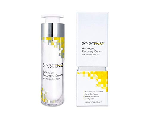 Solscense Facial Recovery Cream Serum First to use PLE to Repair Sun Damage, Reduce Age Spots, Dark Circles, Wrinkles, and Fine Lines 1.7 oz, Innovative Intensive Anti Aging Moisturizer