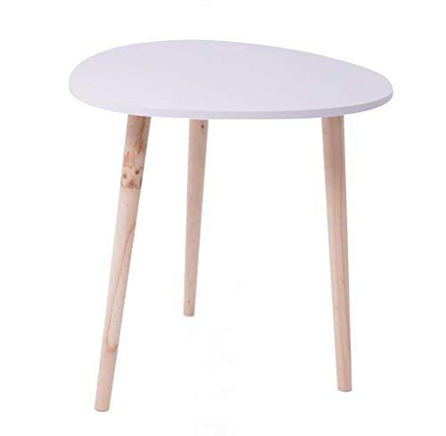 Dynamic24 landelijke bijzettafel, salontafel, koffietafel, woonkamer, tafel legplank, hout wit