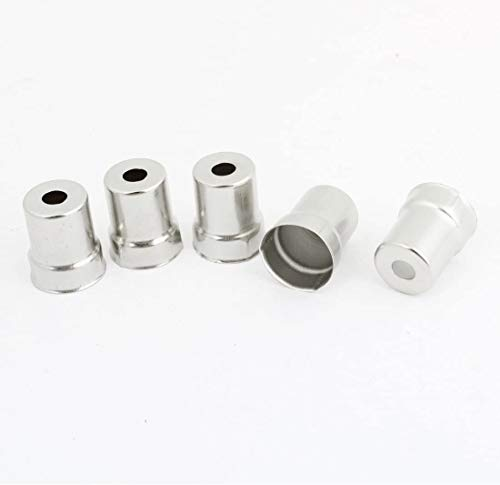 DUDDP Pièces et Accessoires pour Micro-Ondes Cap d'acier Four à Micro-Ondes Four Rond Magnétron 50 PCS Silver Tone