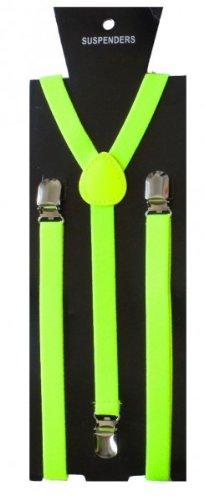 SoulCats Hosenträger für Damen Herren Y-Form,Farbe:neon grün