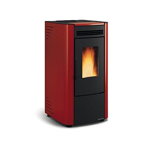 Pelletofen La Nordica Extraflame Ketty 7,3 kW Zwangsbelüftung, lackierter Stahl, herausnehmbare Feuerstelle aus Gusseisen, Fernbedienung