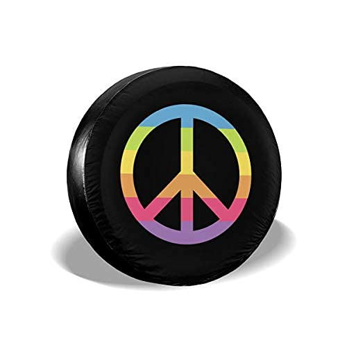 Qian Mu888 Peace - Cubierta de repuesto para neumáticos a prueba de polvo y rayos UV, apta para remolques, RV, SUV y muchos vehículos de 17 pulgadas
