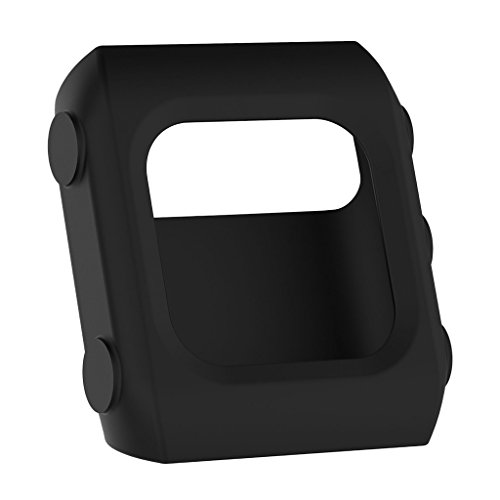 FITYLE Funda Protectora De Silicona Cubierta Protectora De Parachoques Cubierta Protectora para Polar V800 GPS Sport Pulsera - Negro